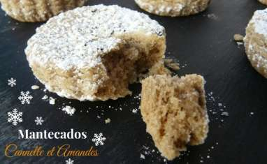 Mantecados cannelle et amandes