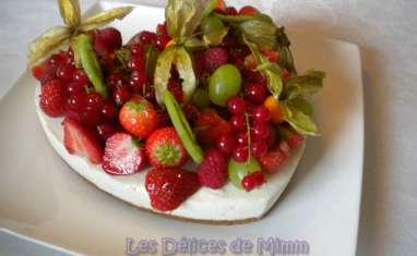 Cheesecake en cœur aux fruits frais