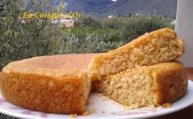 Gâteau yaourt au café et à la noix de coco