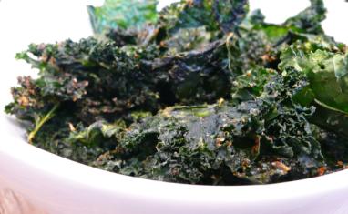 Chips épicées de chou Kale
