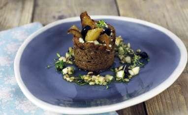 Roquefort papillon en croûte de seigle