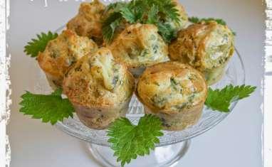 Muffins aux orties et à la fourme d'Ambert