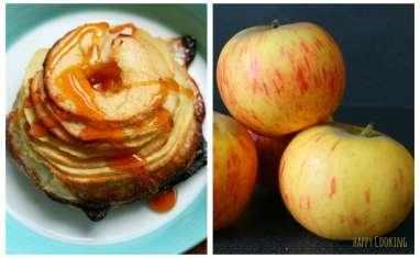 Tarte aux pommes crème d'amandes et caramel