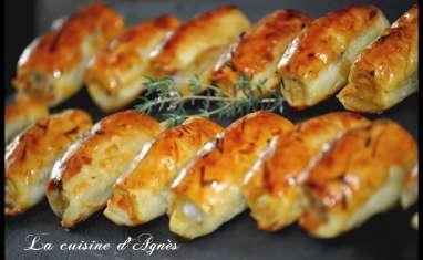 feuilletés de langoustine à la moutarde aux graines de pavot