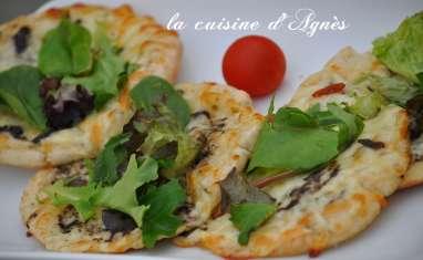 Pizza pita, mozzarella, truffe
