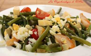Salade de haricots verts et haddock