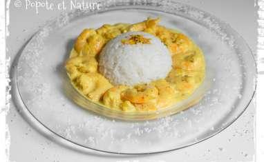 Curry de crevettes à la noix de coco
