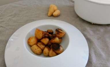 Pommes de terre grenailles au safran