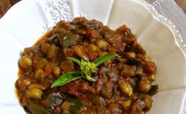Curry d'aubergines et pois chiche
