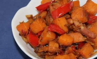 Poêlée de patates douces