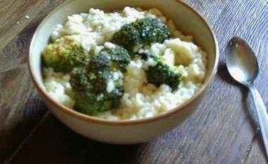 Risotto au brocoli et chèvre frais