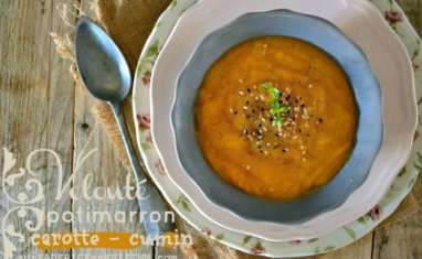 Velouté de potimarron carotte cumin et gomasio