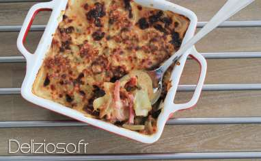 Gratin d'endives au bacon
