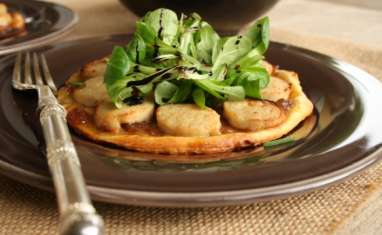 Tartelettes au boudin blanc et confit d'oignons