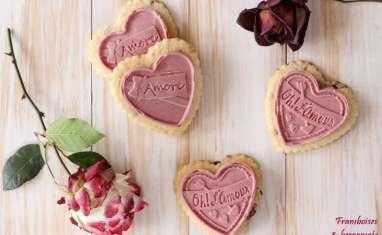Coeurs sablés aux cranberries et chocolats