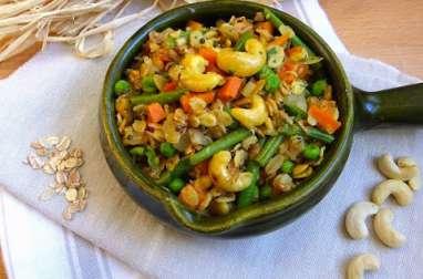 Upma à l'avoine et aux petits légumes