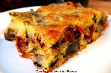 Cake aux artichauts et aux tomates séchées