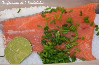 Saumon gravlax à la ciboulette