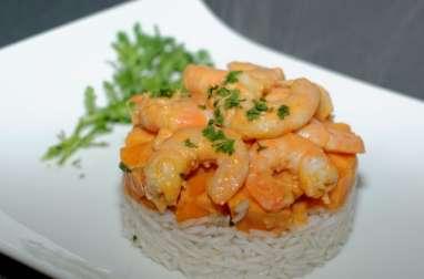 Crevettes aux patates douces