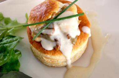 Vol au vent de Saint-jacques aux cèpes