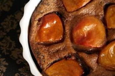 Clafoutis abricots chocolat