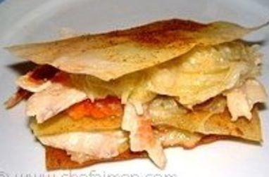 Croustillant de feuilles de brick au haddock et fondue de poireaux