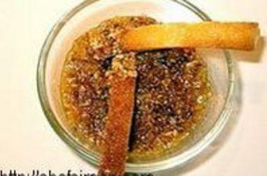 Verrines d'endives au foie gras façon crumble