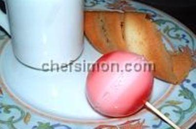 Sucette de mousse gélifiée au chewing gum