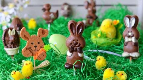 Sucettes en chocolat pour Pâques