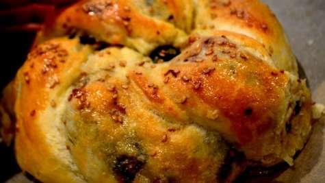 Idée de pain farci cuit au four
