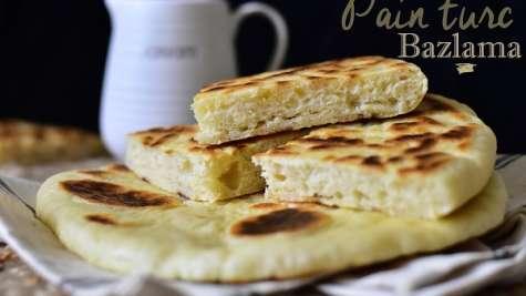 Bazlama, pain turc a la poele moelleux