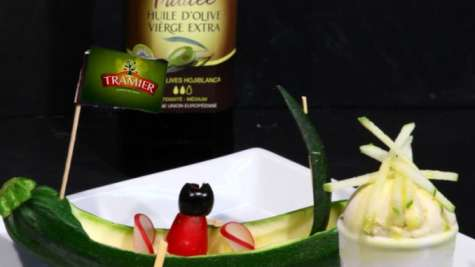 Flan de courgette par Dominique Frérard
