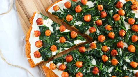 Pizza veggie à la patate douce