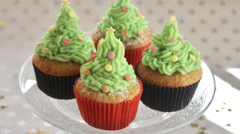 "Cupcakes ""sapins de Noël"""