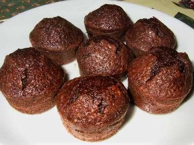 Petits gâteaux légers choco-courgette-amande