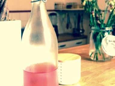 Eau aromatisée citron-framboise