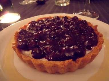 Tarte - tartelettes à la crème vanillée et aux myrtilles (Savoie)
