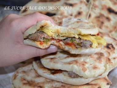 Pain chapati Tunisien farci