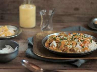 Curry de Crevettes aux Cacahuètes et Lait de Coco