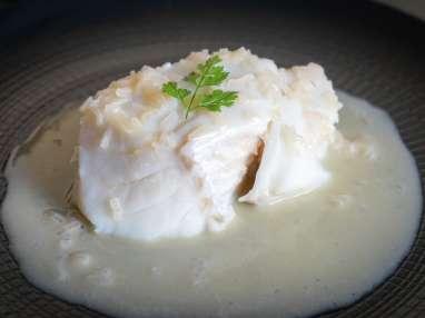Dos de cabillaud poché à l'eau de sel