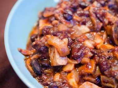 Fricot de tofu aux haricots rouges et champignons