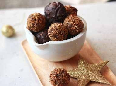 Truffes au chocolat et pralin de cacahuètes