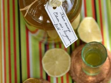 Rhum arrangé citron vert- gingembre