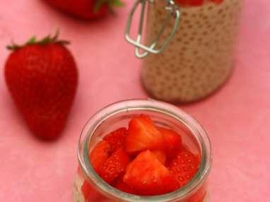 Perle du japon à la crème d'amande et fraise