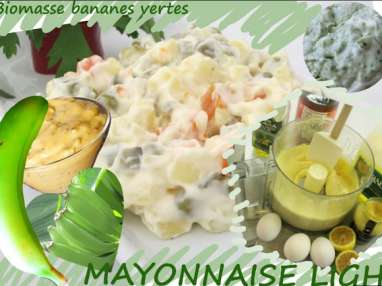 Mayonnaise régime à la biomasse de bananes vertes