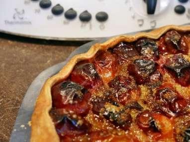 Tarte aux prunes au thermomix facile et rapide