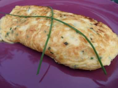 Omelette baveuse au fromage