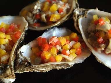 Tartare d'huîtres en coquilles