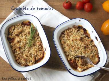 Crumble de tomates au romarin et thym citron