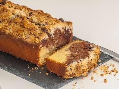 Cake marbré au crumble noisette et chocolat